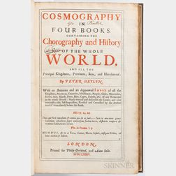 Heylyn, Peter (1599-1662) Cosmography in Four Books Containing the Chorography and History of the Whole World and All the Principal Kin