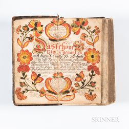 18th Century German Bible with Fraktur Frontispiece