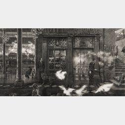 Peter Milton (American, b. 1930)      Interiors VII: The Train from Munich