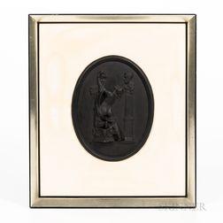 Wedgwood Self-framed Black Basalt Plaque