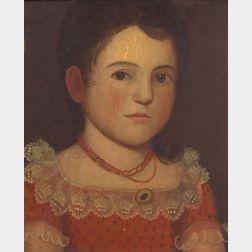 Zedekiah Belknap (1781-1858) Early Portrait of Francis Elizabeth Swift (nee Chase), (1817-1903). Falmout...