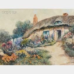Leyton Forbes (British, fl. 1900-1925)    Cottage Garden