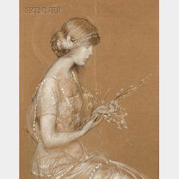 Philip Leslie Hale (American, 1865-1931)       Reverie