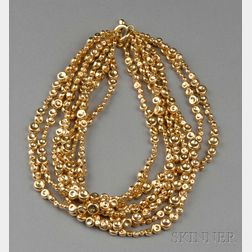 18kt Gold Bead Necklace, Robert Lee Morris