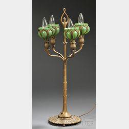 Art Nouveau Candelabra Table Lamp