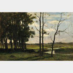 John Appleton Brown (American, 1844-1902)      Marshes at Newbury