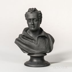 Wedgwood Black Basalt Bust of Byron