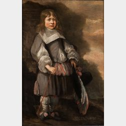 Dutch School, 17th Century      Boy in a Gray Costume Holding a Plumed Hat