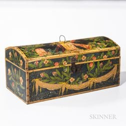 Large Paint-decorated Dome-top Box