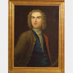 Attributed to Matthew Pratt (American, 1734 - 1805)    Portrait of Colonial American Patriot James Otis.