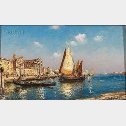 Albert C. Hubert (Austrian, 1878-c. 1935)      Venice View