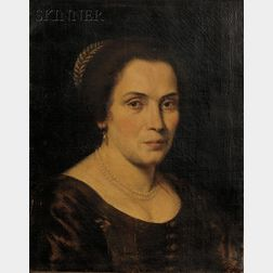 Attributed to Bernardo Strozzi  (Italian, 1581-1644)      Kopf einer Frau in mittleren Jahren