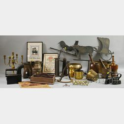 Large Lot of Country and Decorative Metal and Wood Items