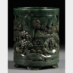 Jade Brush Pot
