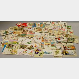 Approximately 300 Early 20th Century Holiday and Greeting Postcards