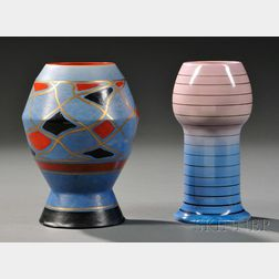 Two Clarice Cliff Vases