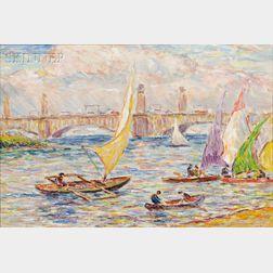 Reynolds Beal (American, 1866-1951)      Charles River Basin