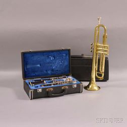 Cased Evette Clarinet and a Majestic Trumpet.     Estimate $50-100
