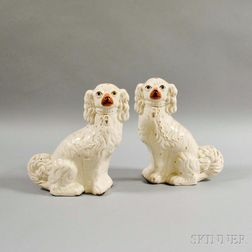 Pair of Staffordshire Ceramic Spaniels