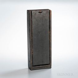 Chip-carved and Black-painted Candle Box