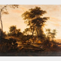 British School, 18th Century Style      Travelers Ambushed by Highwaymen on a Country Road