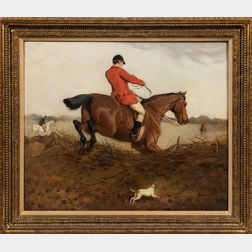 Attributed to Charles Burton Barber (British, 1845-1894)      Two Fox Hunting Scenes