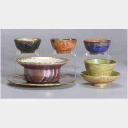 Five Wedgwood Lustre Items