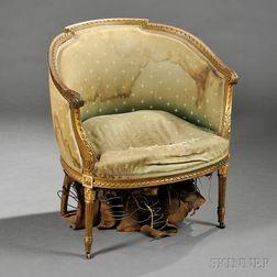 Louis XVI-style Giltwood Bergere
