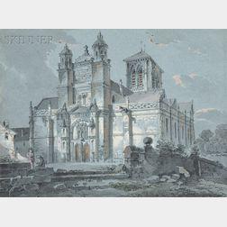 Continental School, 18th/19th Century      Vue de l'Eglise de Vétheuil