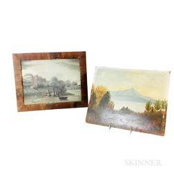 Two Folk Art Landscapes