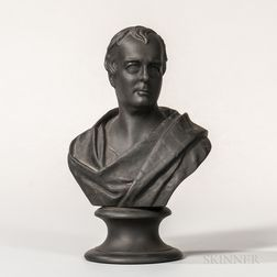 Wedgwood Black Basalt Bust of Scott