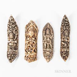 Four Ritual Bone Apron Ornaments