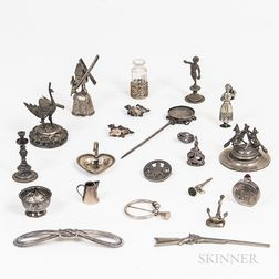 Group of Continental Silver and Silver-plated Figural Miniatures