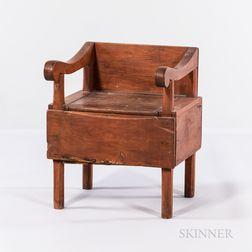 Primitive Lift-top Seat/Potty Chair