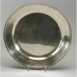 Arthur Stone Sterling Silver Serving Plate