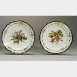 Pair of Meissen Porcelain Fruit Plates