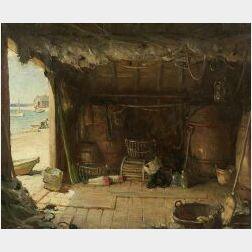 Harold Brett (American, 1880-1955)  Chatham, Cape Cod, Old Fishing Shanty