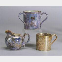 Three Wedgwood Miniature Lustre Items