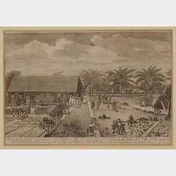 Four German Engraved Views of the Virgin Islands