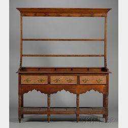 Oak Pewter Dresser