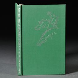 Faulkner, William (1897-1962) Notes on a Horsethief  , Signed.