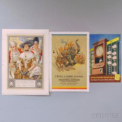 Three U.S. Advertising Lithograph Posters
