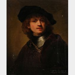 Continental School, 18th/19th Century      Copy After Rembrandt's Self-Portrait as a Young Man, 1634