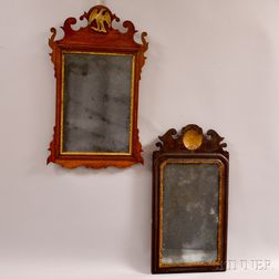 Two Small Early Scroll-frame Mirrors