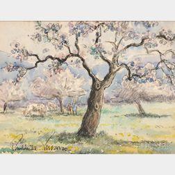 Paul-Émile Pissarro (French 1884-1972)      Arbor en Flor