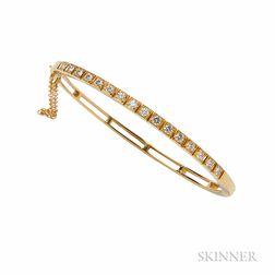 14kt Gold and Diamond Bracelet