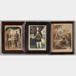 Three Odd Fellows Lithographs
