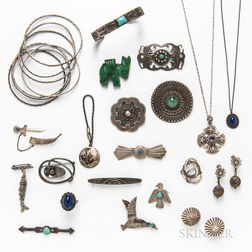 Group of Sterling Silver and Silver-plated Jewelry