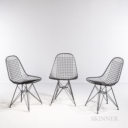Three Ray (1912-1988) and Charles Eames (1907-1978) for Herman Miller DKR Eiffel Base Side Chairs