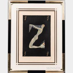 Romain De Tirtoff, called Erté (Russian, 1892-1990)      Letter Z